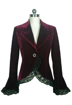 Steampunk velvet jacket http://www.vintagedancer.com/steampunk-clothing-costumes-fashion/