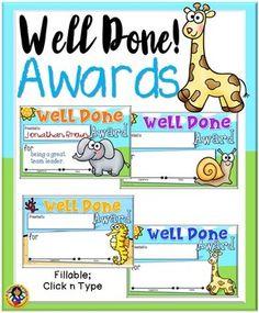 most improved award wording