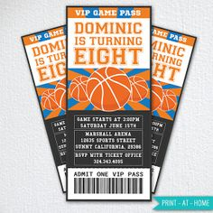 Basketball Invitation / Basketball Party by UnlimitedDiyParty, $12.00