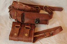 Leather utility belt by Erikthered612 on Etsy, $65.00
