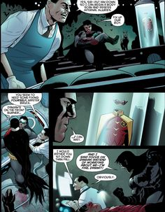 Alfred just wants to care for both his boys but Bruce wants Damian out first Bruce looks at Jason's suit *crying silently I Am Batman, Batman Robin, Nightwing, Batgirl, Bbrae, Batman Family, Comic Panels, Damian Wayne, Dc Characters