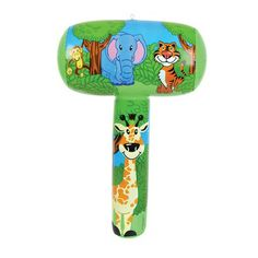 These cool Inflatable Jungle Themed Mallets are great for young kids to play with. They are soft and safe making them super fun in the home, garden or pool. They feature a jungle scene including a tiger, giraffe, monkey and an elephant! Very easy to inflate, simply blow up via mouth valve and watch the mallet take shape!