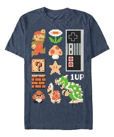 f84ec1cbea73c Fifth Sun Super Mario Retro Pixel Group Tee - Men