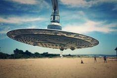UFO ON THE BEACH