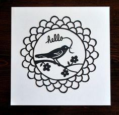 Cute bird papercut.