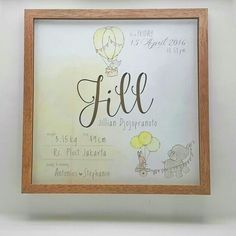 The littlest feet make the biggest footprints in our heart. Congrats for tony and dewi for your gift from heaven.  Frame: naked wood/black/white Frame Size: 20x30cm Production time: Max 2 weeks  PM for details WA : 0817 188997 by scribbleinabox http://discoverdmci.com