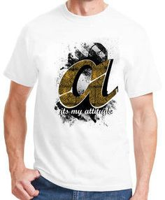 Attractiveness comes from wearing A alphabet t-shirt for men! Shop a unique piece right at WahGifts!