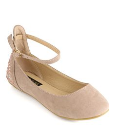 Take a look at this Taupe Vera Ankle-Strap Flat I bought at zulily today! Perfect for fall for my little princess diva