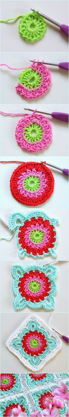 How to Crochet Large Flower Granny Square Blanket Tutorial. They are good for beginners as the pattern is easy to follow and each square is repeatable. Grannies are also a good choice as they allow crochet masters to create unique blankets and impress others with the details and artistic merit. This beautiful granny with flower motif is a pattern for everyone. #freecrochetpatterns #crochetblanket #grannysquare