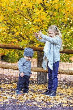 Kids in fall!