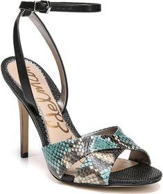 f0e3a45dbd27 Sam Edelman Aly Ankle Strap Sandal in Blue green