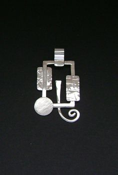 Sterling Silver Abstract Contemporary Pendant by SignetureLine, $65.00