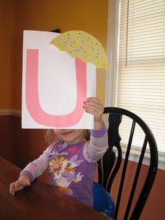 TONS of umbrella activities     Izzie, Mac and Me: Letter U