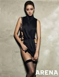 Rainbow Woori in Sexy Black Outfit
