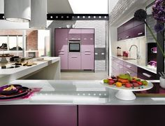 Lilac kitchen work space