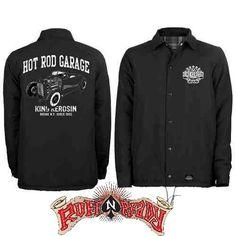 Hot is still in! Wear Hot Rod Garage Coach Jacket by King Kerosin today! #rockabillyautumn #RuffnReadyAus #AutumnFashion #KingKerosin #HotRodGarageCoachJacket #jacket #fashionstatement