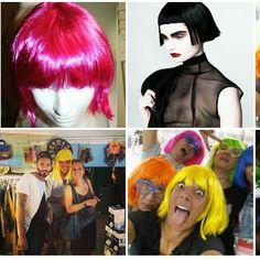 #halloween  #spazioliberowigs  6euro le parrucche corte 12 euro le parrucche lunghe #nonarivarealultimochepoiunciartrovignente :-)
