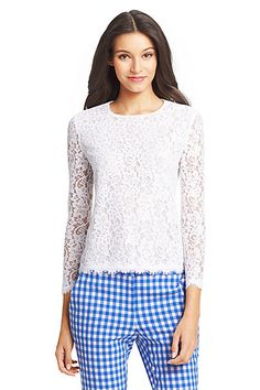DVF Brielle Lace Top in White