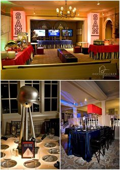 sports theme with classy, well-styled decor elements