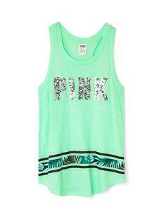 76916fcd6f59a Ringer Tank - PINK - Victoria s Secret Victoria Secret Outfits