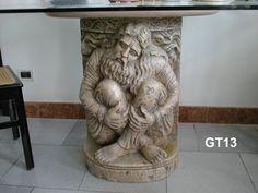 """Gambe """"Ennio"""" in marmo - http://www.achillegrassi.com/it/project/gambe-per-tavolo-ennio-in-marmo-nembro-rosato-anticato/ - Gambe per tavolo """"ENNIO"""" in Marmo Nembro Rosato anticato. La splendida figura scolpita dai nostri abili scalpellini raffigura un Cristo inginocchiato.  Dimensioni:  78cm (H)"""
