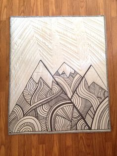 The Mountains are Calling Baby Quilt by Nooches on Etsy. Mountain baby quilt. Mountain nursery