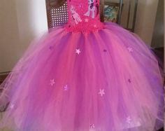 Combo Pinkie Pinky Pie, Twilight Sparkle My Little Pony  Costume Flower Girl Tutu Dress