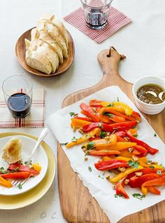 """Roasted peppers with bagna cauda/Peperoni con la bagna caôda from the book """"戀食人生""""/""""Affections for Food"""" 