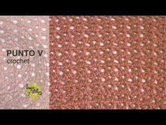 Tutorial Punto V (Uve) Crochet o Ganchillo