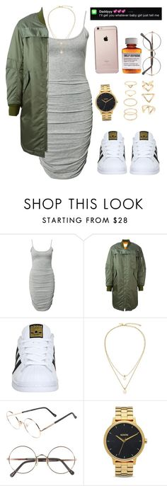 """""""Needed Me x Rihanna"""" by versaceshawty ❤ liked on Polyvore featuring Notion 1.3, 3.1 Phillip Lim, adidas, Kate Spade, Sunday Somewhere, Børn, Nixon and Forever 21"""