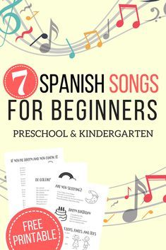 7 Easy Spanish Songs to Sing - Lyrics, Videos, plus a Free Printable! - The Homeschool Resource Room