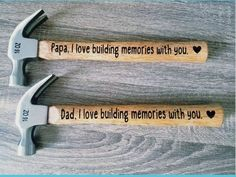 Father's Day Gift / Personalized Hammer / Gift for Dad / Keepsake / Father's Day gift from kids / Dad Gift by neimansvinylnthings on Etsy kids fathers day gift ideas, preschool fathers day crafts for kids, family day Homemade Fathers Day Gifts, First Fathers Day Gifts, Mothers Day Gifts From Daughter, Diy Father's Day Gifts, Great Father's Day Gifts, Mothers Day Crafts For Kids, Father's Day Diy, Daddy Gifts, First Mothers Day