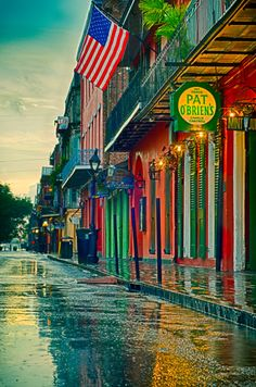 Rainy Reflections in New Orleans