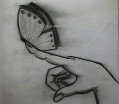 Mariposa en dedo.