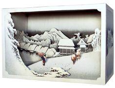 立版古|tatebanko | Kambara, Evening Snow