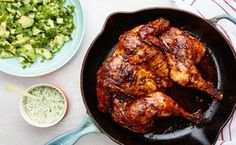 Peruvian-Style Roast Chicken With Tangy Green Sauce