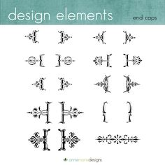 design elements, scrolls, victorian shapes,  fancy shapes, photography design, annie marie designs