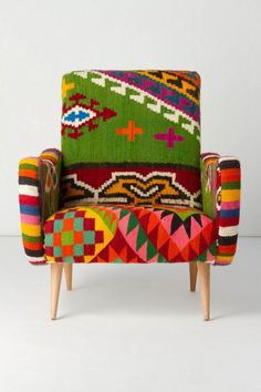 $500+, One-Of-A-Kind Berr Armchair, Green Field -