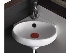 Design Keramik Eckwaschbecken Ekwaschtisch Waschbecken für Gäste WC KBT4518