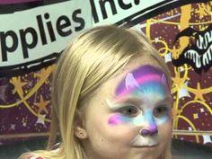 Rainbow Kitty Face Painting Tutorial, via YouTube.