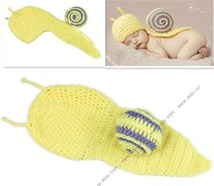 Yellow Snail Infant Beanie Costume Baby TakePhoto Props Animal 0-6 Month #eozy