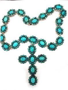 Federico Turquoise Cross Necklace - wow!