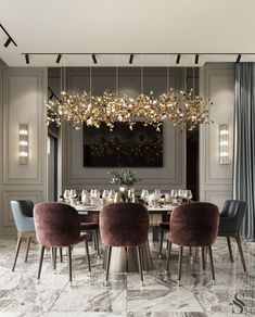 Modern Dining Room Design Ideas That Are Comfortable - Home Room Design, Dining Room Design, Luxury Home Decor, Cheap Home Decor, Elegant Home Decor, Elegant Dining, Interior Design Living Room, Living Room Decor, Luxury Interior Design
