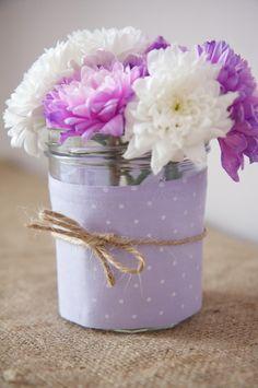 simple jam jar decorations...great idea and super cute!