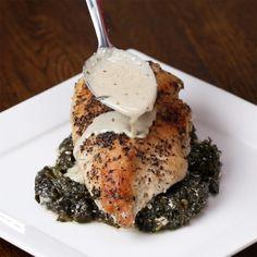 Creamy Spinach Lemon Chicken | Your Tastebuds Are Going To Love This Creamy Spinach Lemon Chicken Dinnner