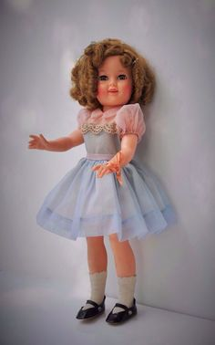 1959-ST-17 IDEAL SHIRLEY TEMPLE DOLL ALL ORIGINAL & TAGGED DRESS! #Ideal