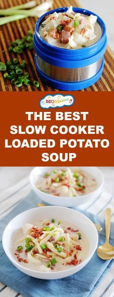 Slow Cooker Loaded Baked Potato Soup is our easy family recipe this week! And this recipe includes the Instapot version for you too! How will you cook this hearty soup recipe? Easy Freezer Meals, Easy One Pot Meals, Easy Family Meals, Freezer Cooking, Freezer Recipes, Slow Cooking, Hearty Soup Recipes, Slow Cooker Recipes, Crockpot Recipes