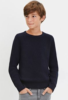 Boys Classic Purl Knit Sweater (Kids)