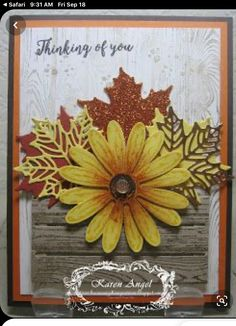 Fall Cards, Holiday Cards, Daisy Delight Stampin' Up, Stampin Up Karten, Leaf Cards, Stamping Up Cards, Thanksgiving Cards, Halloween Cards, Flower Cards