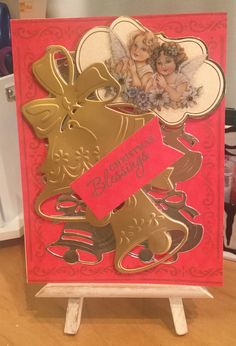 Christmas Card / Used Anna Griffin Holiday Bells Die Cut / Handcrafted By Cindy Babich (Cindyswishestogive 2015)